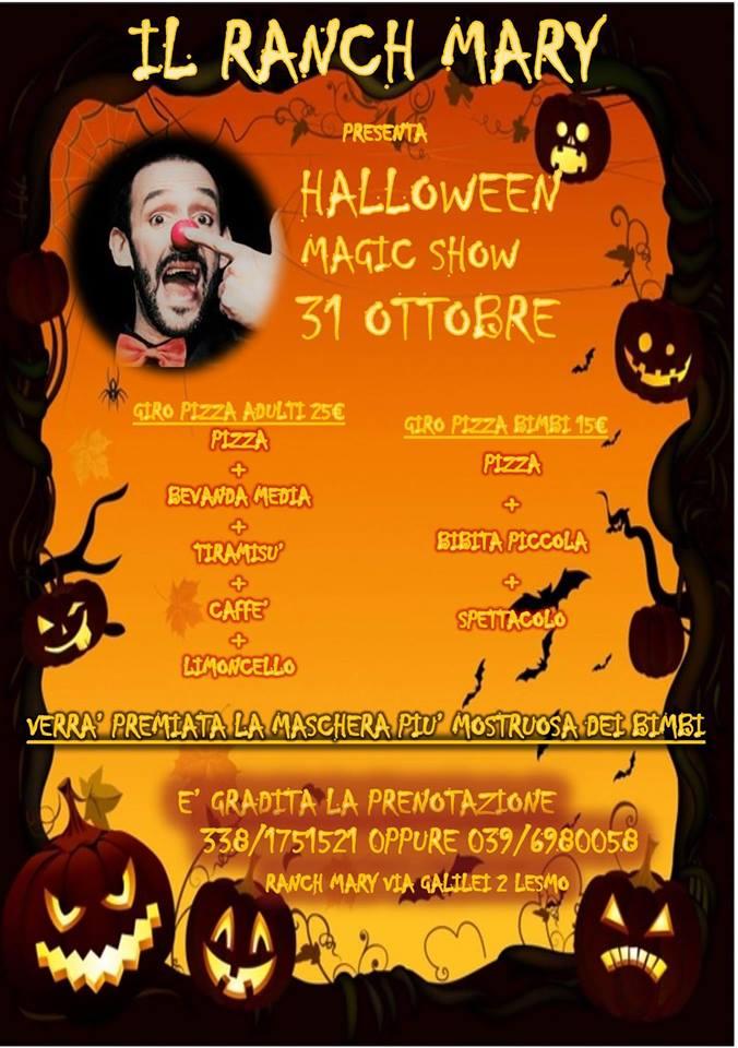 Mercoledì 31 ottobre: HALLOWEEN MAGIC SHOW!